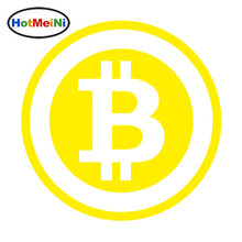 HotMeiNi 15*15cm Car Styling Large Bitcoin Cryptocurrency Blockchain Freedom Car Sticker Vinyl JDM Window Decal Black/Sliver(China)