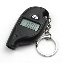 Car Styling Mini Keychain Portable Digital LCD Tire Tyre Wheel Air Pressure Gauge Tester Procession Tool Tire Pressure Monitor