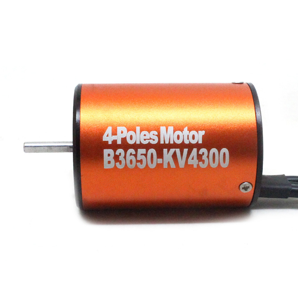 Waterproof 3650 4300KV Brushless Motor w/ 60A ESC Combo Set for 1/10 RC Car W9M5 NO6b<br>