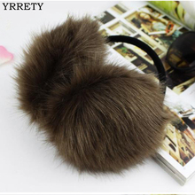 YRRETY 2017 Winter Fashion Women Warm Fur Earmuffs Design High Quality Ear Warmers Rex Fur Ear Muffs Girl's Winter Headphones(China)