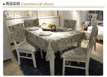 2015 New High Quality Cotton Jacquard Flower Lace Tablecloth Europe Pastoral Style Table Cloth Towel Cover Overlay T80384-1