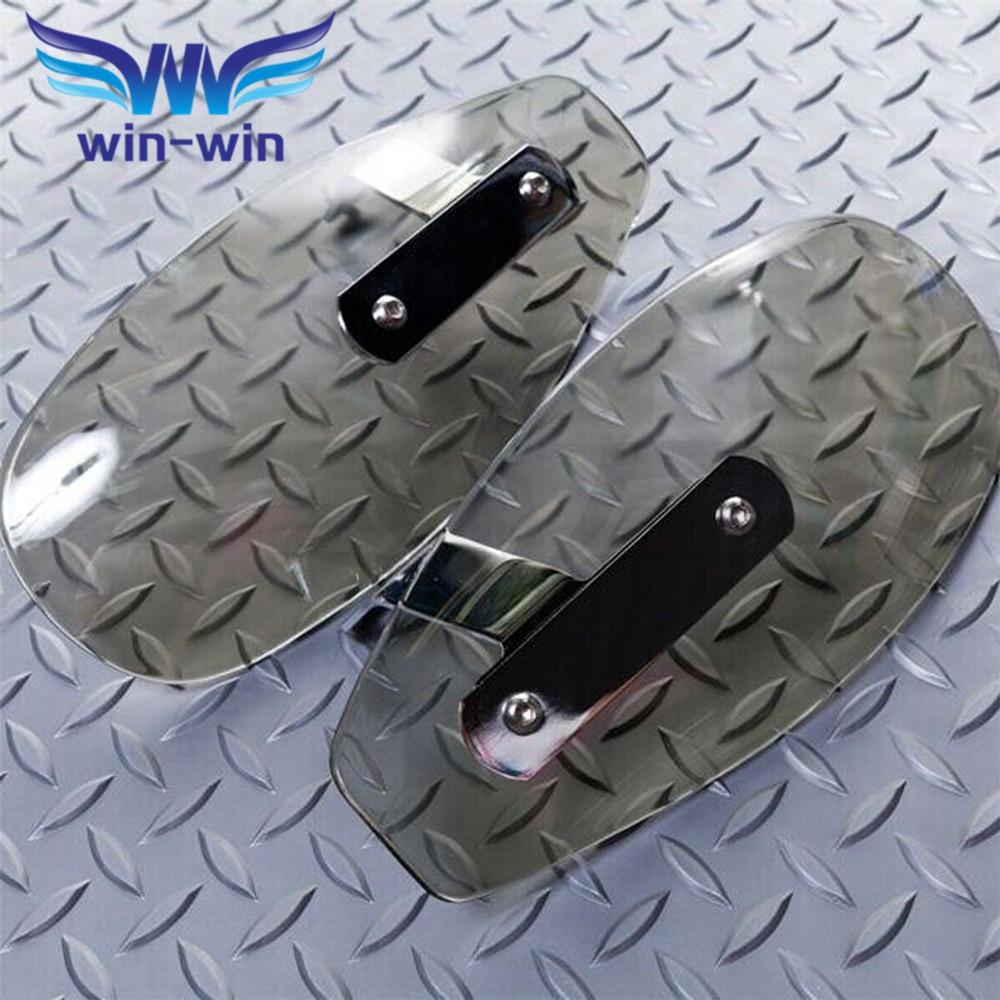 popular  universal motorcycle wind shield handle hand guard ABS motocross transparent handguards   FOR Honda HORNET 250 600 900<br>