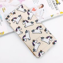 For iPhone 5 6 S SE 5S 6S Plus 6Plus 6sPlus Mobile Phone Case Cover Lips Banana Flamingo Unicorn Skin Ultrathin Silicone Casing