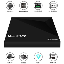 MINI MX9 Smart Android 6.0 TV Box RK3229 Quad Core 32bit H.265 UHD 4K VP9 3D Mini PC LAN WiFi DLNA Media Player EU Plug(China)