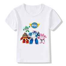 Buy 2017 Children Cartoon Robocar Poli Print Funny T-Shirts Kids Summer Tops Boys/Girls Short Sleeve Clothes Baby Tee shirt,HKP2177 for $5.38 in AliExpress store