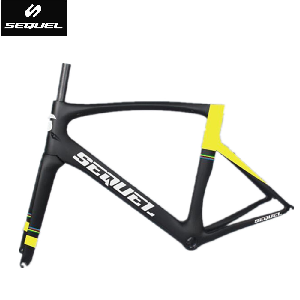 SEQUEL brand road bike carbon frame colorful options contact seller need customize carbon road bike frame 2 years warrant
