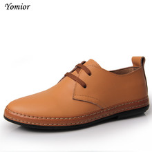 Buy Yomior Men Leather Shoes Casual Spring Autumn Fashion Men Designer Shoes Breathable Mens Shoes Comfortable Outdoor Work Loafers for $19.61 in AliExpress store