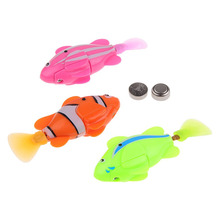1pcs Robofish Activated Battery Powered Robot Fish Toy Childen Robotic Pet Gift Random