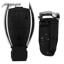 jingyuqin MERCEDES 3 Button Remote Car Key Case Fob Shell BENZ C E R S CL GL SL CLK SLK W203 fob + Battery Holder Clamp