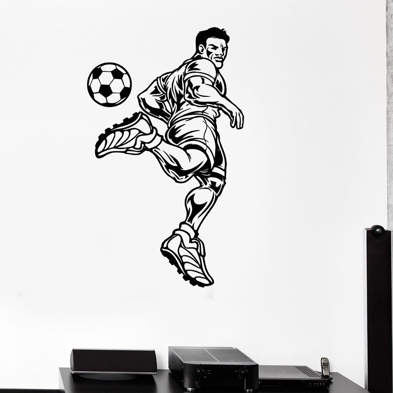Football Sticker Soccer Decal Kids Room Name Posters Vinyl Wall Decals Car Parede Decor Mural Football Sticker