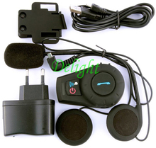 1 Pcs FDC Wireless Interphone GPS Speaker Headset Bluetooth Motorbike Intercom System 500M Motorcycle Helmet Intercom