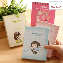 SALE Kawaii Cute girl Candy color mini mate diary cook shop schedule planner notebook notepad monthly weekly organizer