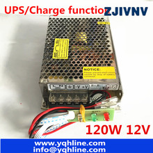 New arrival 120W 12V 8A UPS/Charge function switching power supply input 110/220v battery charger output 13.8v SC-120W-12