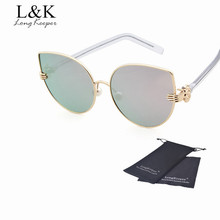 Long Keeper Fashion Cat Eye Sun Glasses Gradient Women Shopping Sunglasses UV400 Protection Eyewears gafas de sol mujer STY3801X
