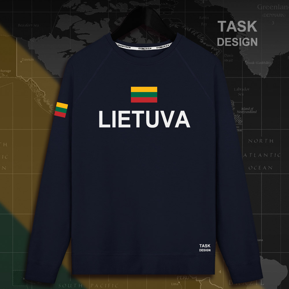 Lithuania Lithuanian LTU Lietuva Lietuvos men hoodie pullovers hoodies men sweatshirt new streetwear clothing Sportswear tracks 3