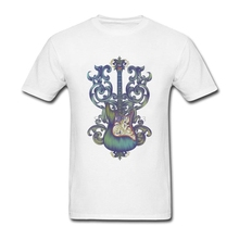 Angel Guitar Men Tshirts Novelty T Shirt Men Short Sleeve O Neck Over Size Tops Tee For Guys