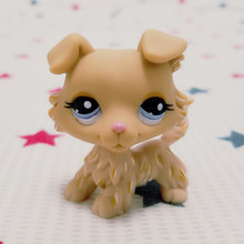 Original LPS Lovely Pet shop animal action figure toy littlest doll Puppy Dog blue eyes #1194
