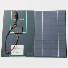 Hot Sale 4.2W 18V Solar Cell Polycrystalline Solar Panel+Crocodile Clip For Charging 12V Battery 200*130*3MM NEW Free Shipping
