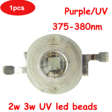 1pcs 1W 2W 3W 45mil Chip UV Ultraviolet 375nm~380nm LED Bead Light Lamp Part