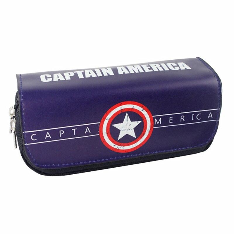 Captain America Iron Man Batman Superman Wallet Pencil Pen Case Cosmetic Makeup Coin Pouch Zipper Bag Purse Dollar Price<br><br>Aliexpress