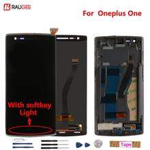 PKR 3,264.13  6%OFF | For Oneplus One LCD Display + Touch Screen Digitizer Assembly Replacement for One plus One With softkey illumination light