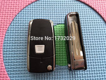 ZABEUDEIR 1pcs New Replacement Key Shell For Fiat Punto PANDA IDEA 1 button Remote Key FOB Conversion Folding blank uncut blade(China)
