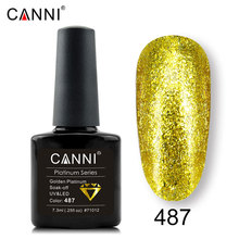 CANNI Factory perfect platinum long lasting chrome foil gel nail polish 12ml Nail Manicure glitter bling color Gel nail Varnish(China)