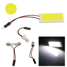T10 BA9S COB Chip 36SMD LED Light Car Light Source Auto Interior Light Panel Reading Map Bulb Lamp Festoon Dome Adapter 12V 2PCS