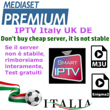IPTV M3u Android-Box Italy Enigma2 German Smart-Tv Mediaset Premium Linux for Enigma2/Smart-tv/Pc/Linux