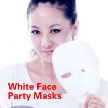 1pcs Hot Adult  Plastic Scary White Men Women Mask Halloween Masquerade DIY Dance Party Masks Full  Face Ball Costume Masks