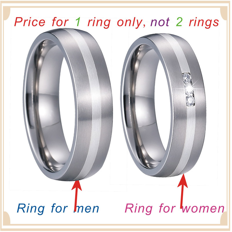 Unique Alliance Silver Inlay Titanium Rings for men and women Wedding Band Matching Couple Rings Bague anillos de plata anel PV1701 (6)