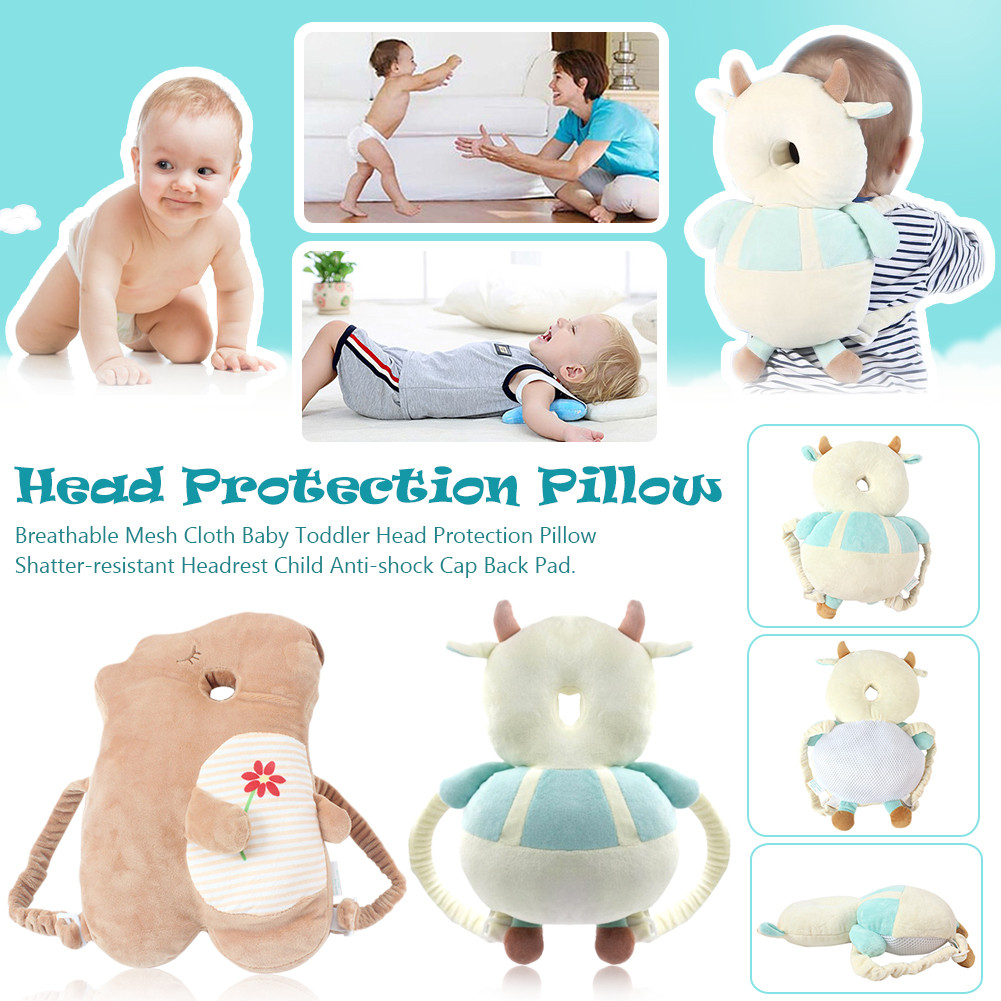 Children Head Protection Pillow Baby Toddler Fall-preventive Headrest Anti-shock Cap Collision Back Pad Baby Cartoon Head Pillow Buy One Get One Free Baby Bedding