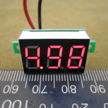 1PCS  DC 4.5V to 30V Red Digital Voltmeter Meter Power Monitor 4.5-30V Digital DC Voltmeter Panel Meter   #0106