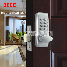 380B mechanical keyless digital keypad code locker Home entrance safety lock stainless steel Material 35-50mm door thickness(China)