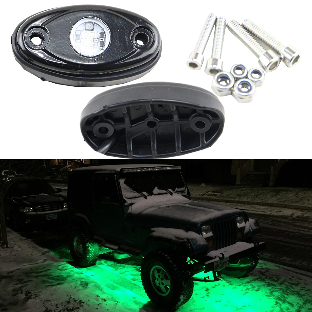 2x LED Rock Green Light for JEEP ATV 4x4 Off-Road Truck Trail Fender DC 9-32V 9W Led Rock light Neon lamps Lighting<br><br>Aliexpress