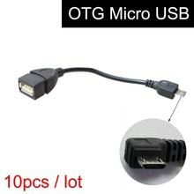 10 Pcs Micro USB OTG Cable for Car GPS Navigation System, V8 Android Smart Phone Samsung HTC Memory Stick U-Disk Data Connection