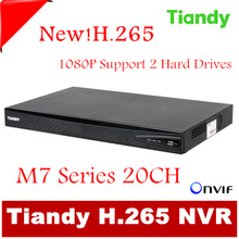Original Tiandy H.265 20CH NVR TC-NR2020M7-S2 1080P Support Onvif p2p USB and 2pcs of 4T Hard Disk Network video recorder(China)