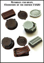 New Unassembled 1/ 35  Scene accessories manholes and drain Resin Kit DIY Toys Unpainted kits