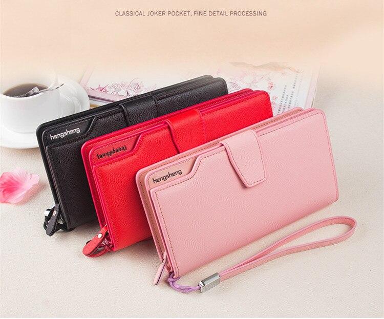 HTB1GdatSFXXXXXmapXXq6xXFXXXa - 2018 new fashion women wallet leather brand wallets women wholesale lady purse High capacity clutch bag for women gift