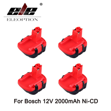 ELEOPTION 4PCS 12V Ni-CD 2.0Ah Rechargeable Replacement Power Tool for Bosch Battery BAT043 2 607 335 692 22612 Drill Batteries(China)