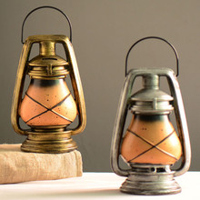 American Rural Style Resin Kerosene Lamps Model Money Boxes 1PC Antique Imitation nostalgia Shop Restaurant Home Decoration(China)