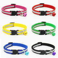 Brand Reflective High Quality Nylon Cat Collar Perro Puppy Collar Pet Products Retail Wholesale Blue Red Green Black Yellow