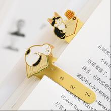 12 pcs/Lot kawaii Metal iron bookmark for books Cute cat bookmarks Paper clip Stationery Office accessories School supplies 6114(China)