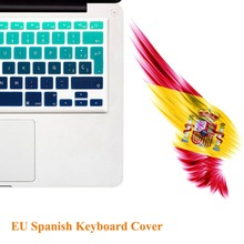 "EU/UK Version Spanish Gradient Colors Silicone Keyboard Cover Stickers Protector for MacBook Air 13"" MacBook Pro 13"" 15"" Retina"