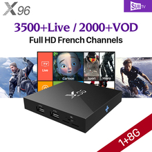4K X96 Android 6.0 TV Box S905X IPTV Box & HD IPTV Subscription 1 Year SUBTV Account Arabic IPTV Europe French(China)