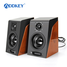 ADDKEY 2pcs New Creative MiNi Subwoofer Restoring Ancient Ways Desktop Small Computer PC Speakers With USB 2.0 & 3.5mm Interface(China)
