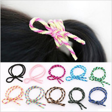 Women Elastic Hair Bands Fashion Jewelry Hair Accessories Double Headbands Adorable Ponytail Scrunchy Girls Ornamental Rope 2pcs