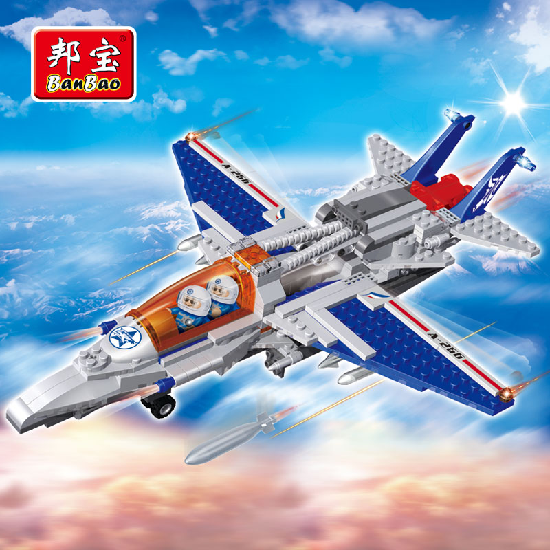 BanBao Military Educational Building Blocks Toys For Children Kids Gifts Tobess Army Aircraft Fighter Plane F4 Stickers<br><br>Aliexpress