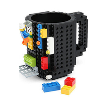 Creative toys Drinkware Building Blocks Mugs DIY Block Puzzle Mug 1Piece Build-On Brick creative Mug Lego Type Coffee Cup