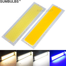 120x36MM 10W COB LED Strip Light Bulb Lamp DC 12V 1000LM Blue Warm Natural Cold White COB Matrix for DIY Car Work Lights(China)
